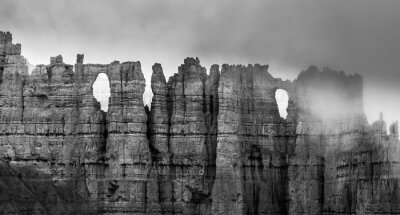 Fototapeta Black and White Bryce Canyon