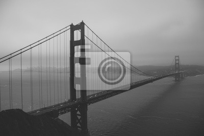 Fototapeta Black And White Golden Gate Bridge San Francisco Kalifornia