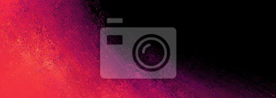 Fototapeta black background with pink orange and purple color splash border design in dramatic bold painted texture