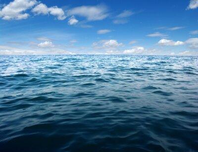 Fototapeta Błękitne morze powierzchni wody