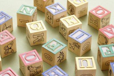 Fototapeta Bloków zabawki.