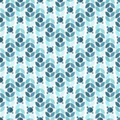 Fototapeta Blue Geometric Retro Seamless Pattern