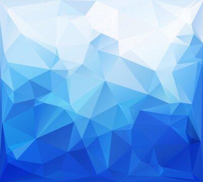 Fototapeta Blue Polygonal Mosaic Background, Creative Design Templates