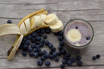 Fototapeta Blueberry koktajl bananowy