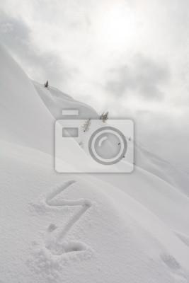 Fototapeta Błyskawicy na śniegu