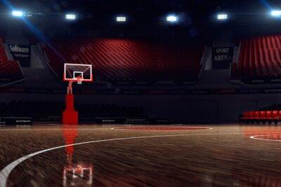 Fototapeta Boisko do koszykówki. unfocus w odległości strzał z dystansu
