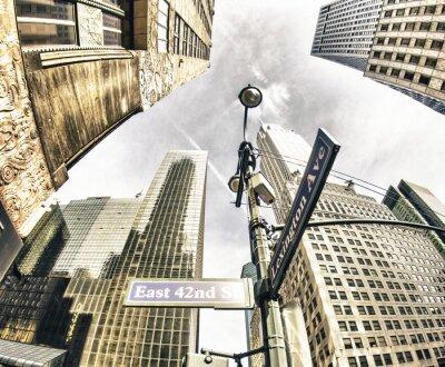 Fototapeta Bottom-Up view of New York Wieżowce