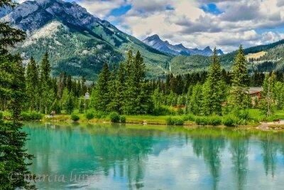 Fototapeta Bow River, Banff, Kanada