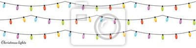 Fototapeta Boże Narodzenie żarówek. Xmas łańcuchy świetlne