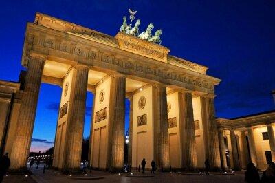 Fototapeta Brama Brandenburska w wieczornym świetle