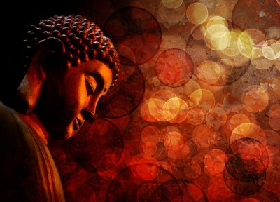 Fototapeta Brązowy Czerwony Zen Buddha Statue Meditating