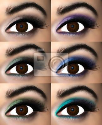 Brązowy Makijaż Oczu W Cieni Które Zwiększają Brązowe Tęczówki