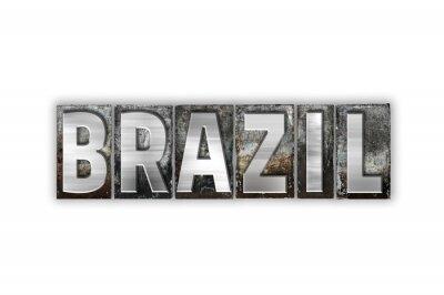 Fototapeta Brazylia Koncepcja metal form Typ