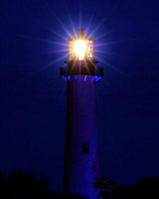 Fototapeta Bright Light / Latarnia znajduje się w Jupiter na Florydzie