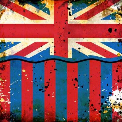 Fototapeta British flag grunge