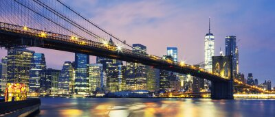 Fototapeta Brooklyn Bridge o zmierzchu