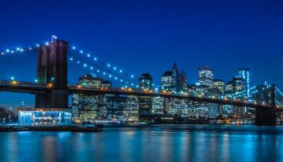Fototapeta Brooklyn Bridge w Nowym Jorku Skyline