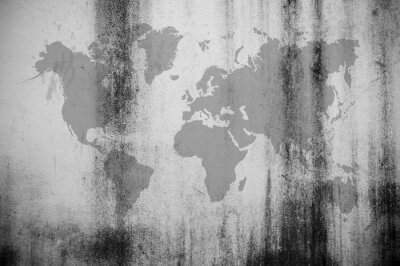 Fototapeta Brudne ściany mapie