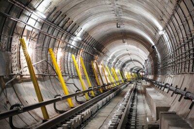 Fototapeta Budowę tunelu metra
