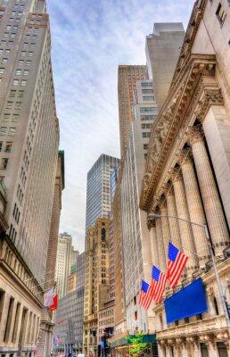 Fototapeta Budynki na Wall Street na Manhattanie, Nowy Jork