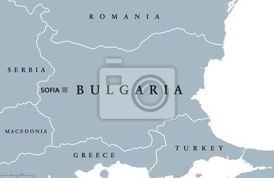 Bulgaria Polityczna Mapa Sofii Granice Panstwowe I Krajow