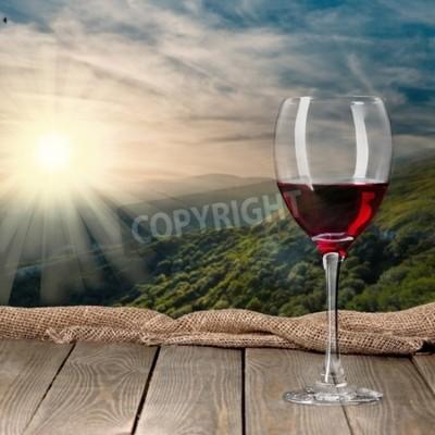 Fototapeta Butelka wina, wino, butelka.