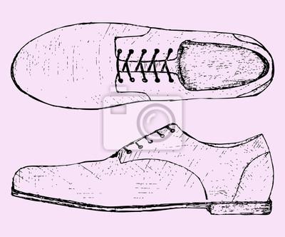 9b86e663a5537 Buty z buta, szkic ilustracji doodle styl Fototapeta • Fototapety ...
