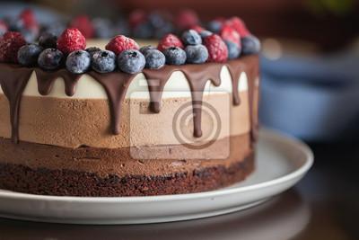 Fototapeta Cake dessert chocolate sweet delicious