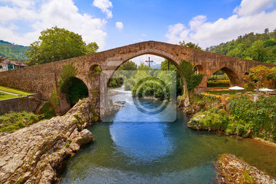 Fototapeta Cangas de Onis roman bridge in Asturias Spain