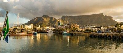 Fototapeta Cape Town, Sudáfrica, Wybrzeże, tramonto, Table Mountain