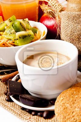 Fototapeta Cappuccino śniadanie