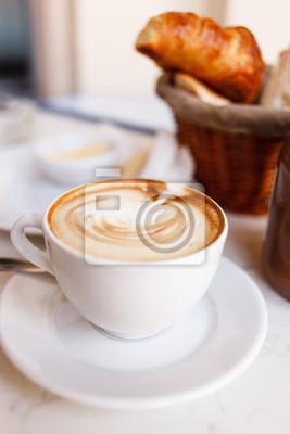 Fototapeta cappuccino z rogalikami