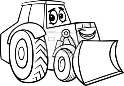 Cartoon Kolorowanki Spychacz Fototapeta Fototapety Roboty