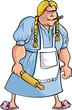 grouping de mes jouets, MAJ+ vitrine Cartoon-zly-kobieta-z-walkiem-do-ciasta