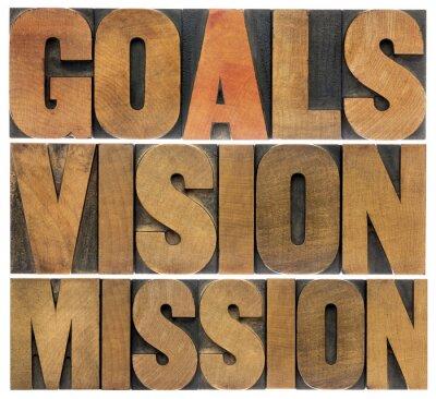 Fototapeta cele, wizja i misja
