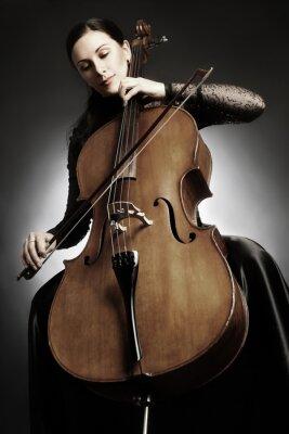 Fototapeta Cello player wiolonczelista odtwarzanie