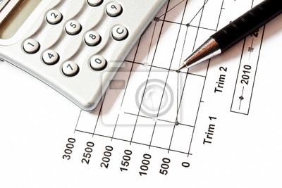 Fototapeta Chart Finance