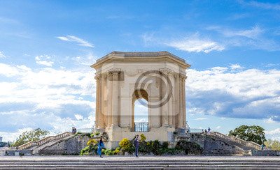 Ch teau deau jardin peyrou montpellier fototapeta fototapety rzymianin francuski kamie - Jardin d essence montpellier ...
