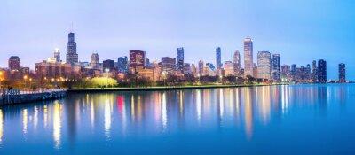 Fototapeta Chicago i jeziorze Michigan Panorama