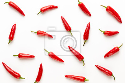 Chili or chilli cayenne pepper isolated on white background cutout.