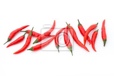 Chili pepper na białym tle.