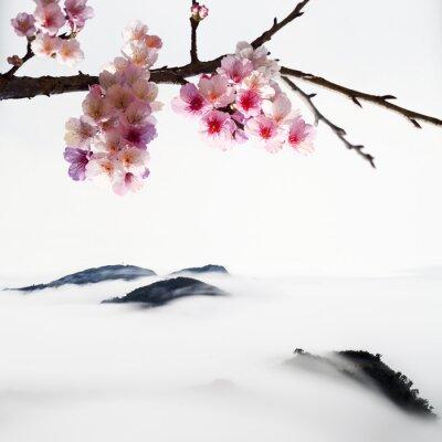 Fototapeta Chiński Nowy Rok pozdrowienia tło karty: happly nowy rok