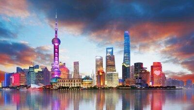 Fototapeta Chiny - Shangahi skyline
