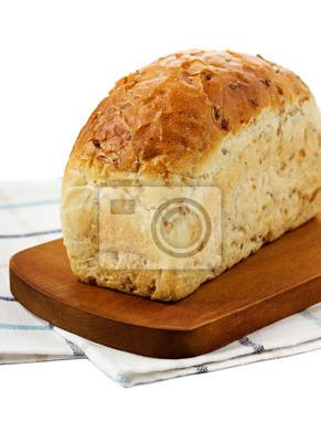 Fototapeta Chleb samodzielnie na białym tle