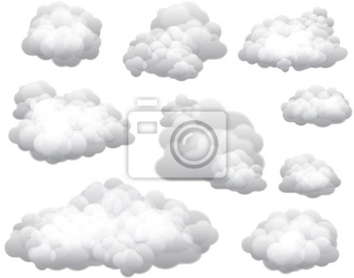 Fototapeta Chmury wektorowe