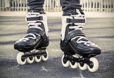 Fototapeta chodzić na rolki do jazdy na łyżwach. stonowanych Fotografia