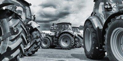Fototapeta Ciągniki rolnicze składy, pługi i maszyny