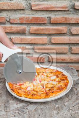 Fototapeta Cięcia smaczne pizzy