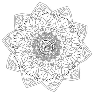Fototapeta Circular abstrakcyjny wzór z różnych elementów.