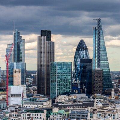 Fototapeta City of London w godzinach popołudniowych